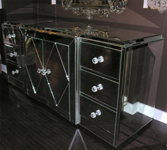 American Custom Mirrored Dresser For Sale