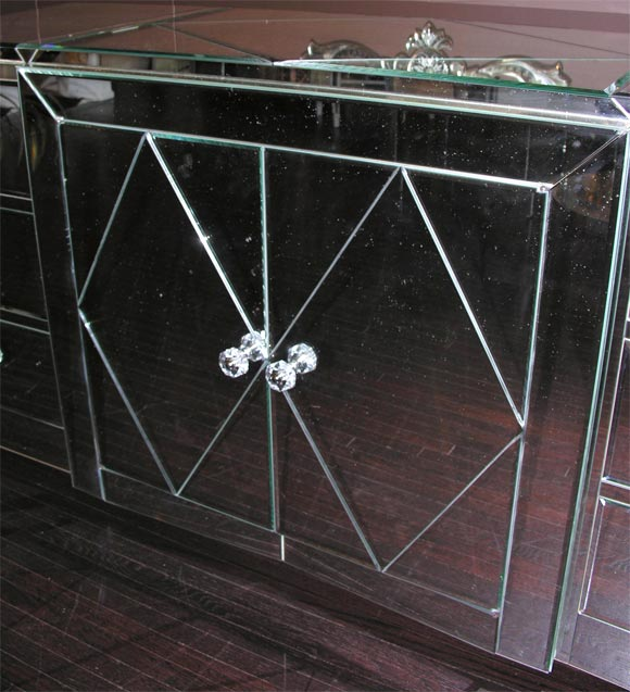 Contemporary Custom Mirrored Dresser For Sale