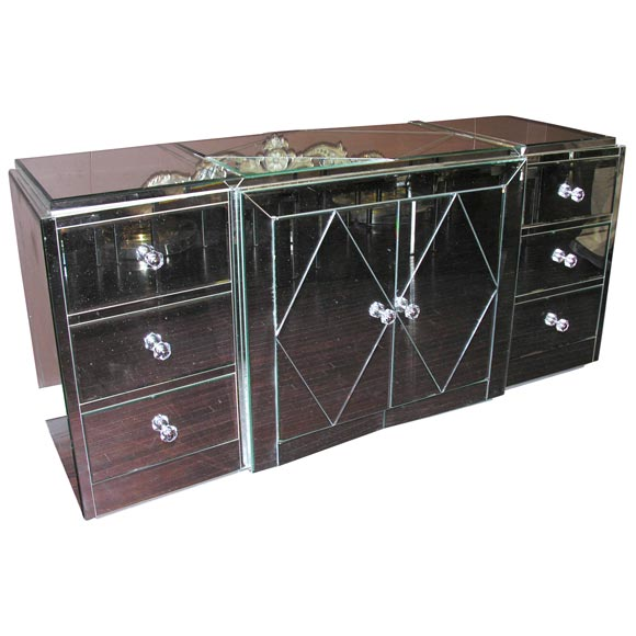 Custom Mirrored Dresser For Sale