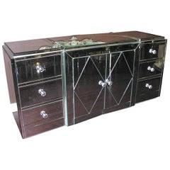 Large Diamond Front Mirrored Dresser