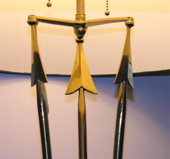 Quot Arrows Quot Brass And Bronze Patinated Floor Lamp At 1stdibs