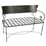 A  1950s  Arts Nouveau styled  Iron Bench.