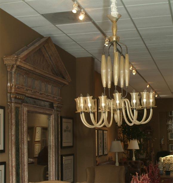 Incredible Murano Glass Chandelier At 1stdibs