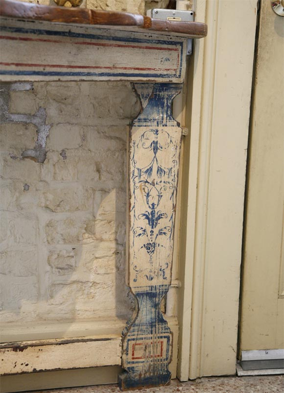 Portuguese Style Painted Console In Good Condition For Sale In New Orleans, LA