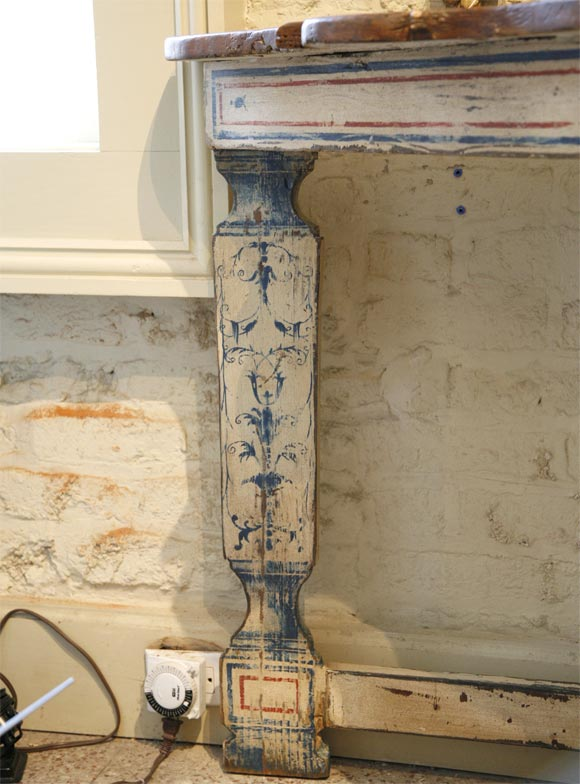 20th Century Portuguese Style Painted Console For Sale