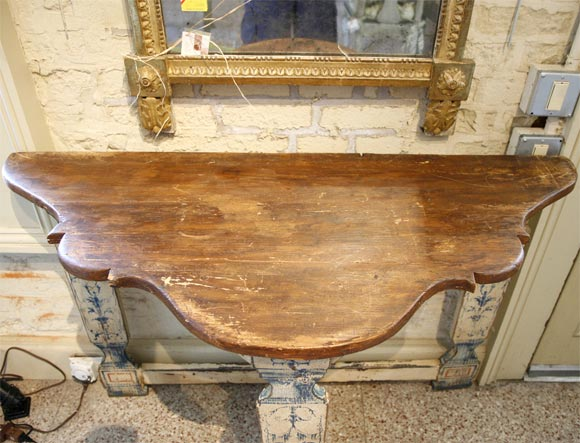 Portuguese Style Painted Console 6