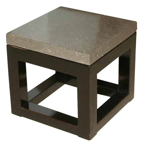 Black Stone Top Coffee Table At 1stdibs