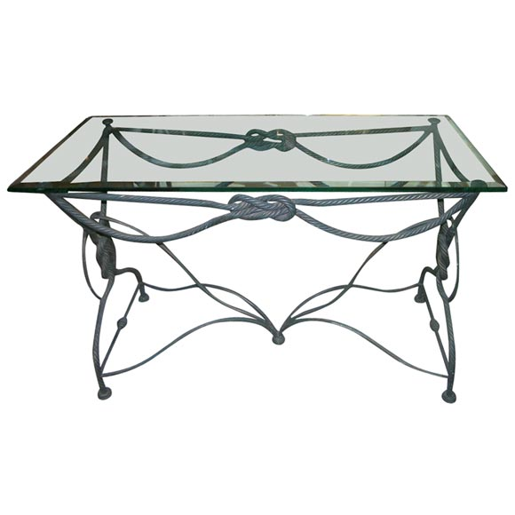 A Nautical Wrought Iron Console At 1stdibs