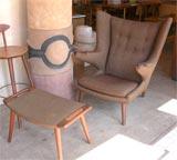 "Hans Wegner ""Papa Bear"" chair & ottoman image 2"