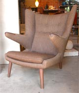 "Hans Wegner ""Papa Bear"" chair & ottoman image 5"