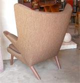 "Hans Wegner ""Papa Bear"" chair & ottoman image 7"