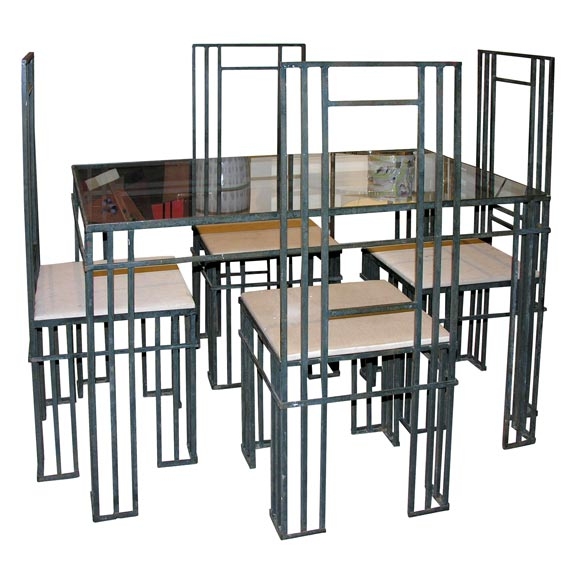 wrought iron dining set at 1stdibs