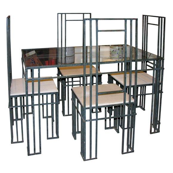 wrought iron dining set at 1stdibs