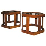 Group of Six Octagonal Occasional Tables from Brown Saltman