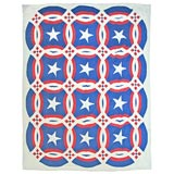 Patriotic Red & White and Blue Traputto Star Quilt