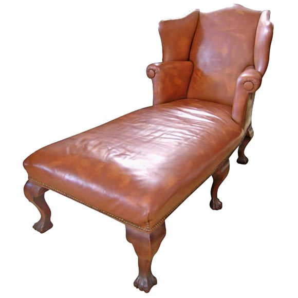 Leather chaise at 1stdibs - Chaise longue montreal ...