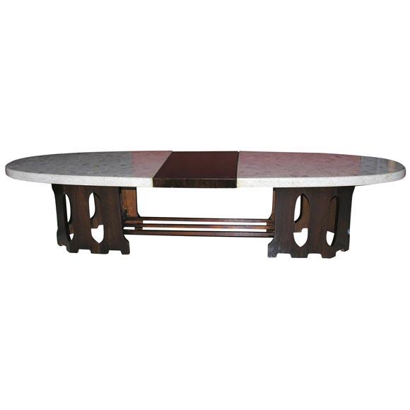 elliptical cocktail table by harvey probber at 1stdibs. Black Bedroom Furniture Sets. Home Design Ideas