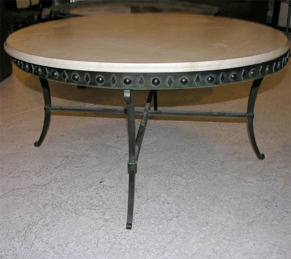 Thick Square Black Stone Top Coffee Table With Short Black: Beautiful Roman Cast Bronze Base With Stone Top Coffee