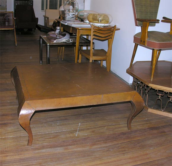 Great Looking Italian Leather Covered Coffee Table At 1stdibs