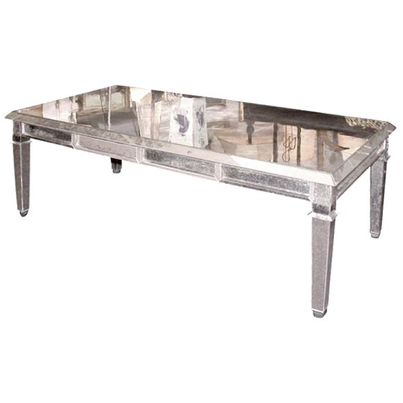 Antique Mirror Veneered Cocktail Table At 1stdibs