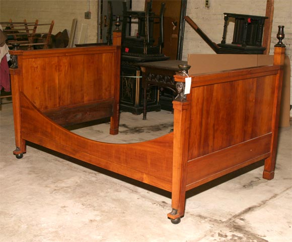 French Empire Alcove Bed In Good Condition For Sale In Hudson, NY
