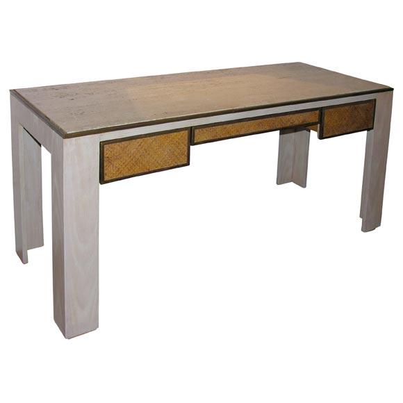 Travertine Top Desk At 1stdibs