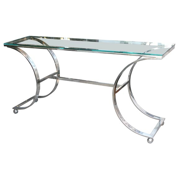 Stainless Steel Console Table At 1stdibs