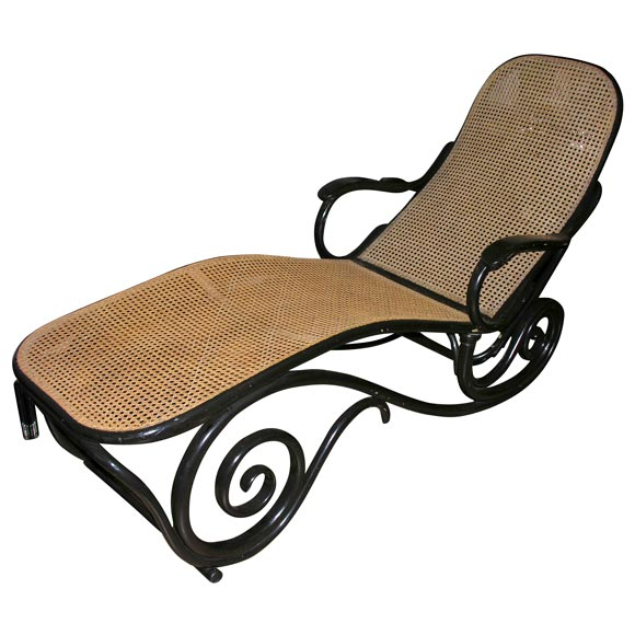 antique thonet chaise longue at 1stdibs. Black Bedroom Furniture Sets. Home Design Ideas