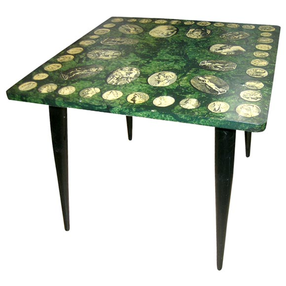 Decoupage Table By Fornasetti 1