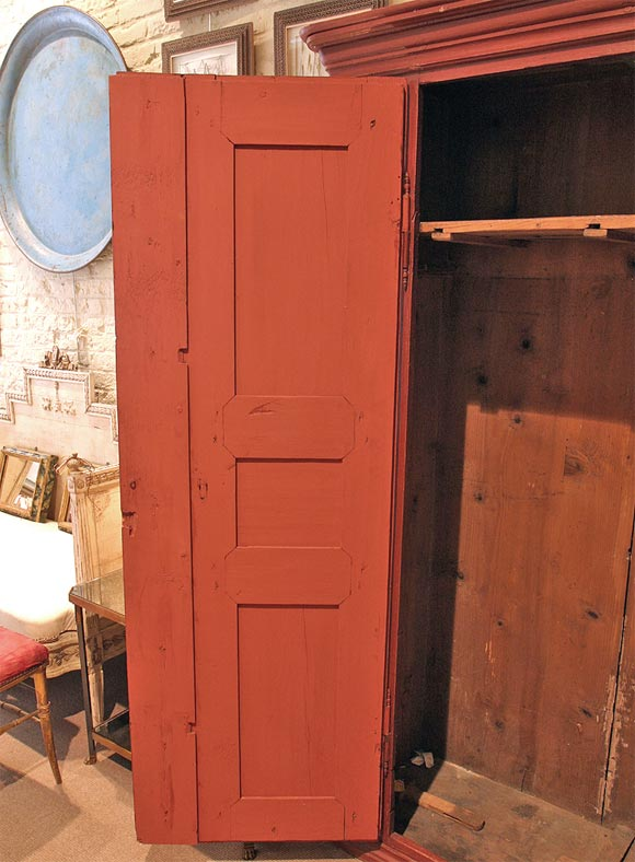 Red Painted Armoire At 1stdibs