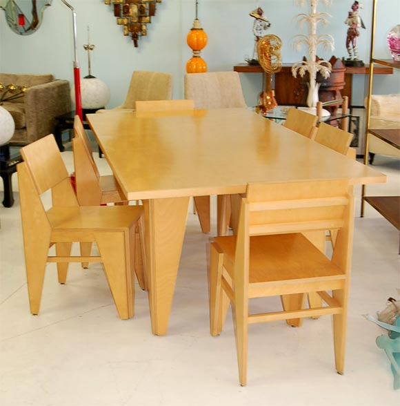 Herman miller prototype dining table and chairs at stdibs