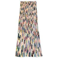 1930's Hand woven rag runner pastel rug