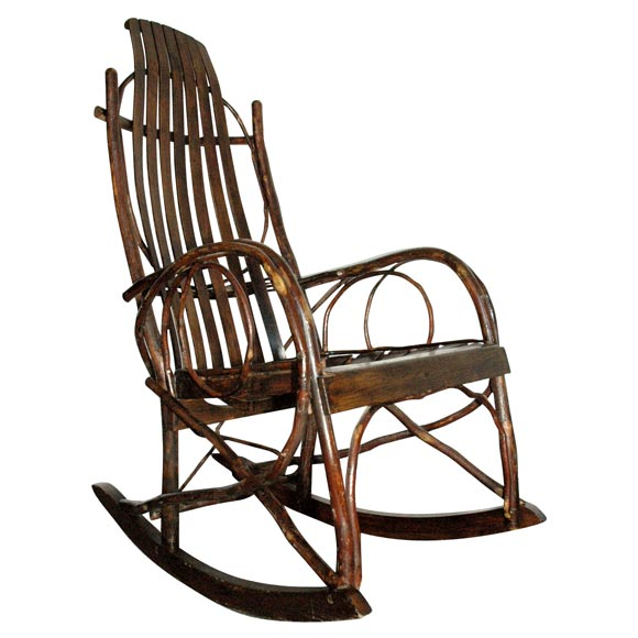 Genial 1920 1930 AMISH BENTWOOD ROCKING CHAIR FROM PENNSYLVANIA For Sale