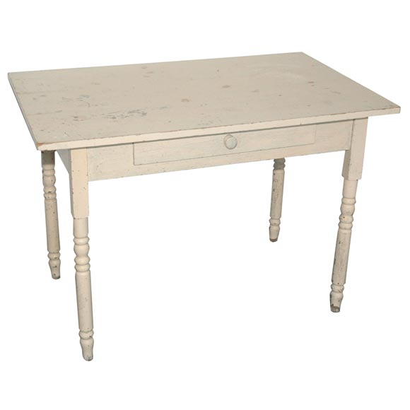 Dated 1920 Original White Painted Desk Coffee Table At 1stdibs