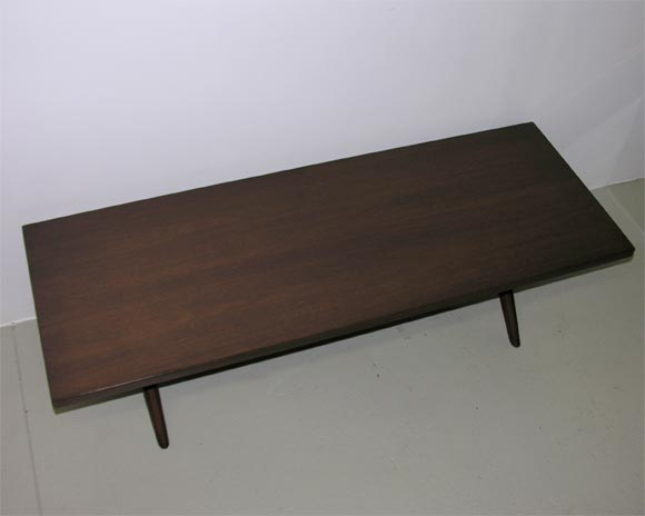 Mid-20th Century Trestle Base Cocktail Table by Robsjohn-Gibbings for Widdicomb For Sale