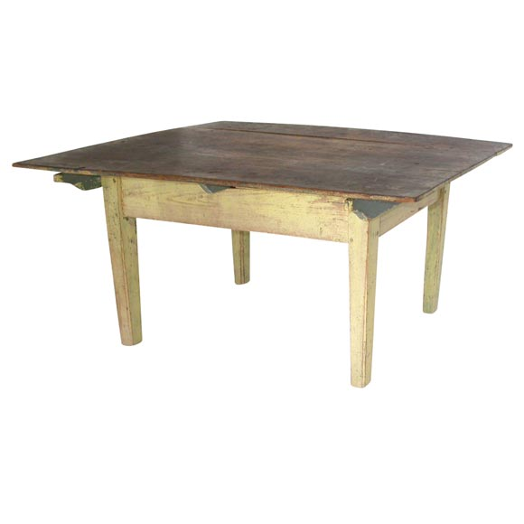 19thc Original Painted Farm Table Coffee Table At 1stdibs
