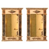 Pair of Italian Neo-Classical Marble and Stone Mirrors