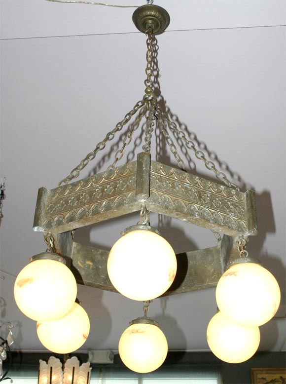Arts and crafts chandelier at 1stdibs