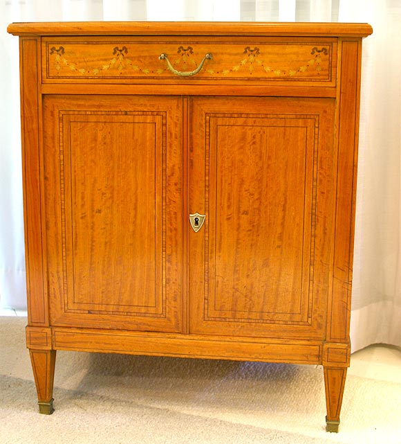 Satinwood Commode or Nightstand 2