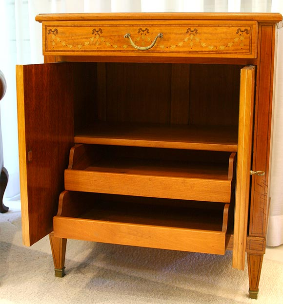 Satinwood Commode or Nightstand 3