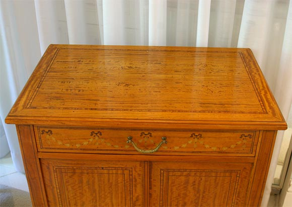 Satinwood Commode or Nightstand 7