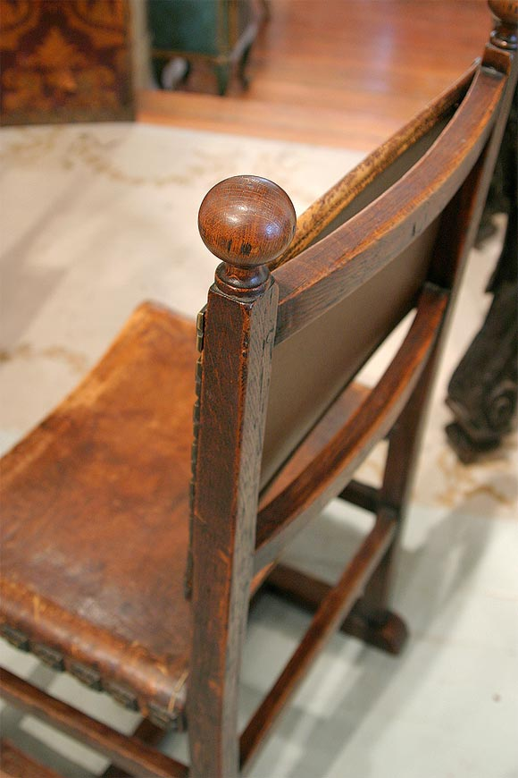 19th c spanish leather chairs at 1stdibs for Empire antiques new orleans