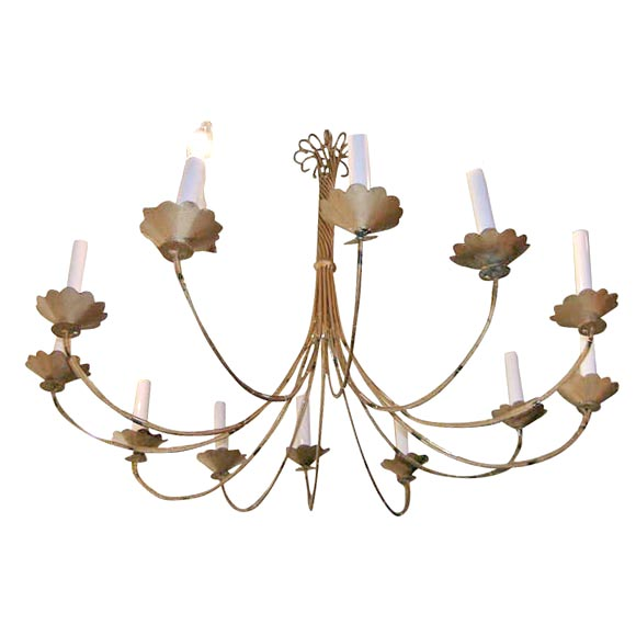 12 Armed Chandelier At 1stdibs