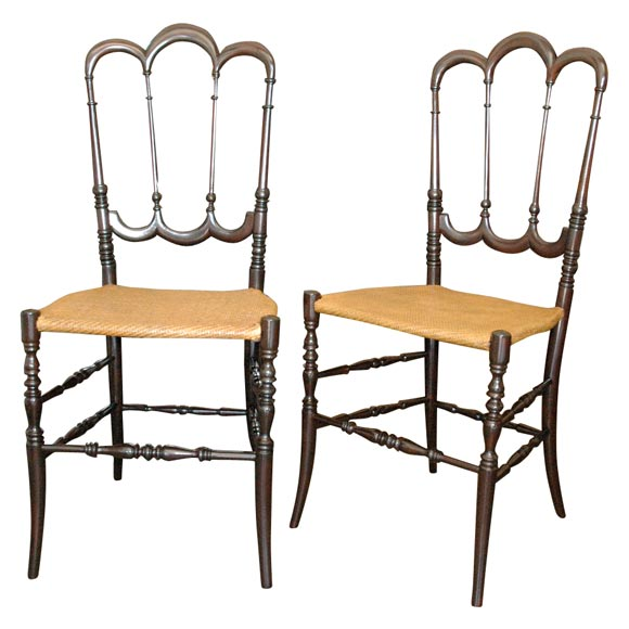 Pair of chiavari chairs at 1stdibs