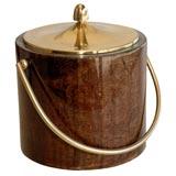 Aldo Tura goat skin parchment ice bucket