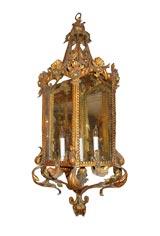 Iron Gilt Hanging Lantern