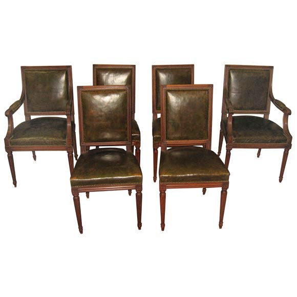 1950 green leather living room suite at 1stdibs. Black Bedroom Furniture Sets. Home Design Ideas