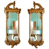 Pair of Italian Gold-leafed Mirrors