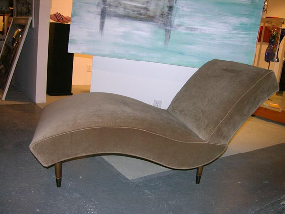 1950 39 s wavy chaise at 1stdibs for 1950 chaise lounge