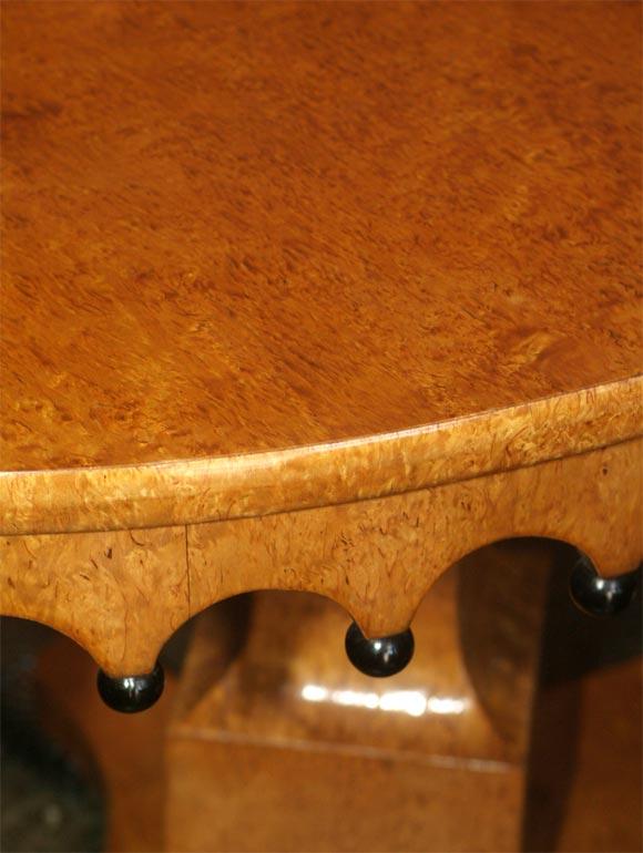 Polished Russian Biedermeier Center Table For Sale